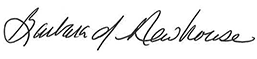 Barbara Newhouse signature