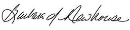 Barbara Newhouse signature