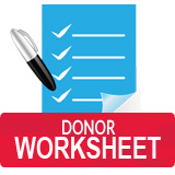 Donor Worksheet Button