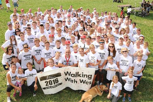 2016 Team Walking With Wes was the largest team at the Walk